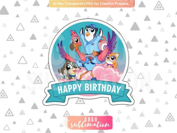 T.O.T.S Birthday Cake Topper Printable