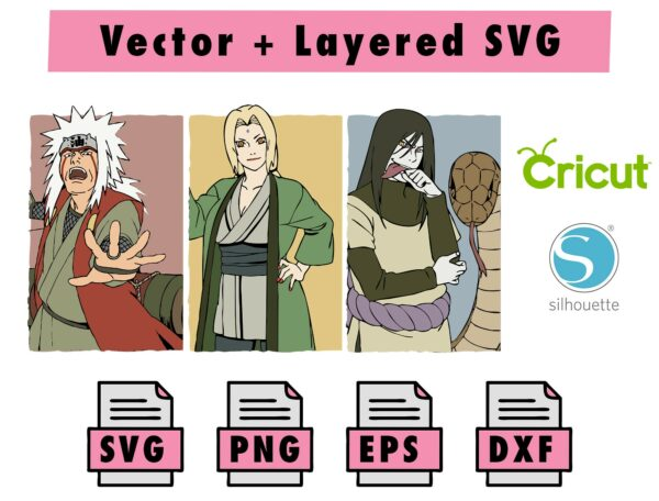 THMBNL Vectorency Naruto Sanin SVG, PNG, EPS, DXF for Cricut and silhouette machine