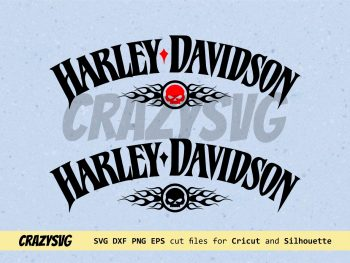 Tank decals for Harley Davidson Vector SVG Cut Files