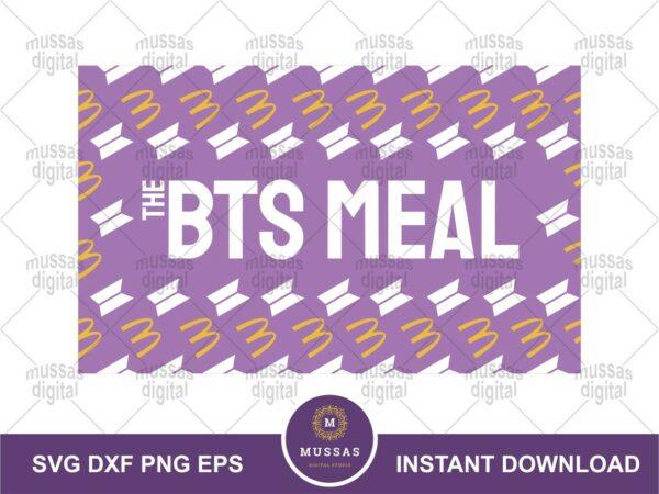 The BTS Meal Pattern McDonalds Logo SVG Vector