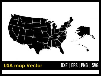 USA map Vector United States of America SVG