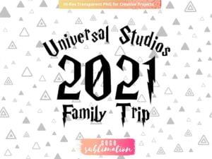 Universal Studios Family Trip Sublimation Design PNG