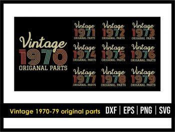 Vintage 1970-79 Original Parts SVG PNG Vector Design