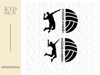 Volleyball SVG Monogram