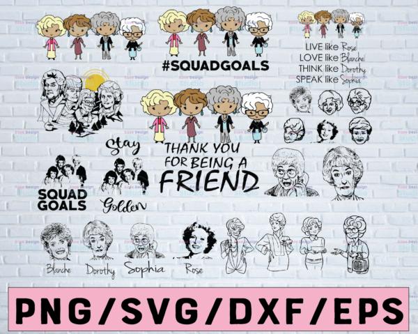 WTMETSY12042021 02 3 Vectorency 23 FILES Golden Girls SVG Bundle, PNG, DXF, Golden Girls Clipart, Golden Girls Bundle