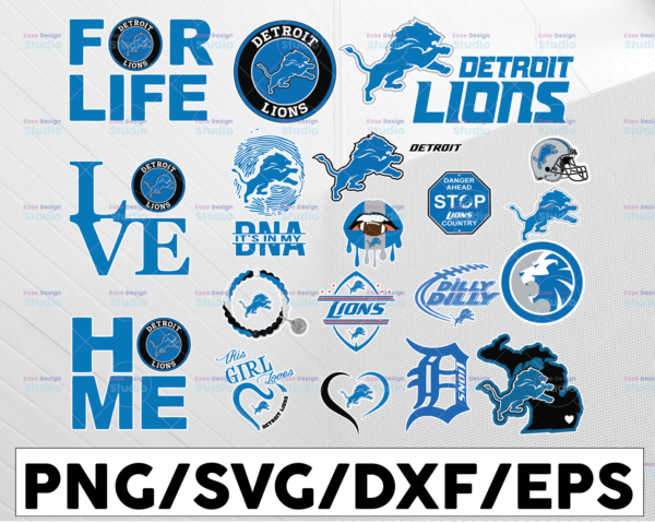 WTMETSY13012021 01 10 Vectorency Detroit Lions, Detroit Lions SVG, Detroit Lions clipart, Detroit Lions cricut, NFL teams SVG, Football Teams SVG, PNG DXF, EPS