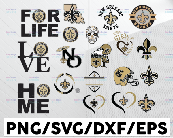 WTMETSY13012021 01 20 Vectorency New Orleans Saints, New Orleans Saints SVG, New Orleans Saints clipart, New Orleans Saints cricut, NFL teams SVG, Football Teams SVG PNG DXF EPS