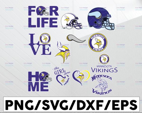 WTMETSY13012021 01 31 Vectorency Minnesota Vikings SVG PNG JPG DXF EPS Vector Files , Silhouette Cameo, Cricut Cut File, Digital Clipart, NFL SVG, NFL Logo SVG