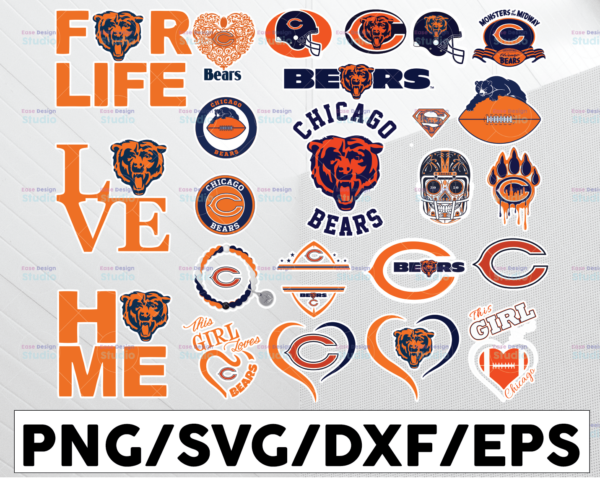 WTMETSY13012021 01 5 Vectorency Chicago Bears, Chicago Bears SVG, Chicago Bears clipart, Chicago Bears cricut, NFL teams SVG, Football Teams SVG, PNG DXF, EPS