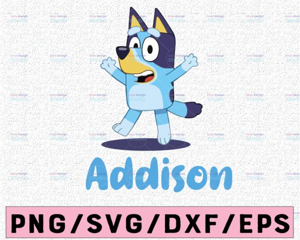 WTMETSY13012021 02 2 Vectorency Personalized Bluey SVG, Bluey Birthday Party SVG, Bluey Family SVG, Birthday Bluey SVG, Birthday Gift, Birthday Girl Boy Bluey Bingo