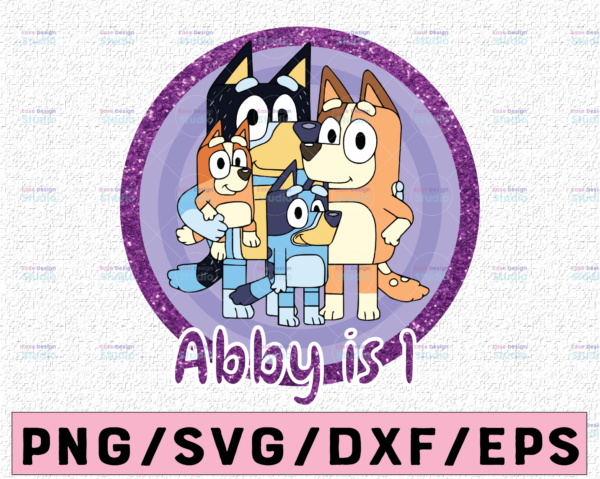 WTMETSY13012021 02 8 Vectorency Personalized Bluey PNG, Bluey Family PNG, Bluey Party Animated TV Series, Bluey Birthday PNG Clipart, Download