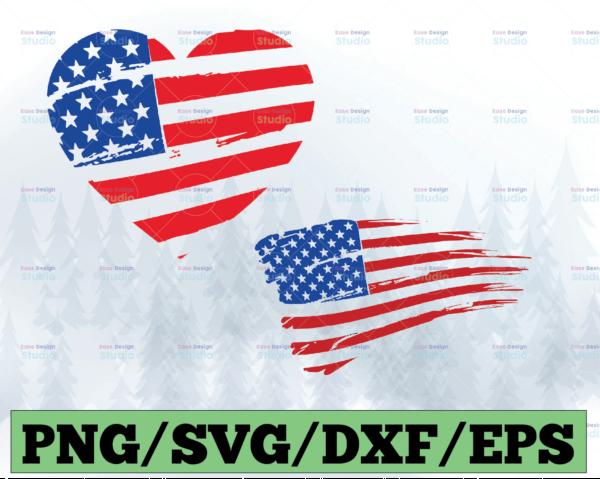 WTMETSY13012021 03 11 Vectorency Distressed American flag Color bundle - Distressed svg - American svg, png - Flag svg, png - Flag black - Color svg - Digital file svg, png