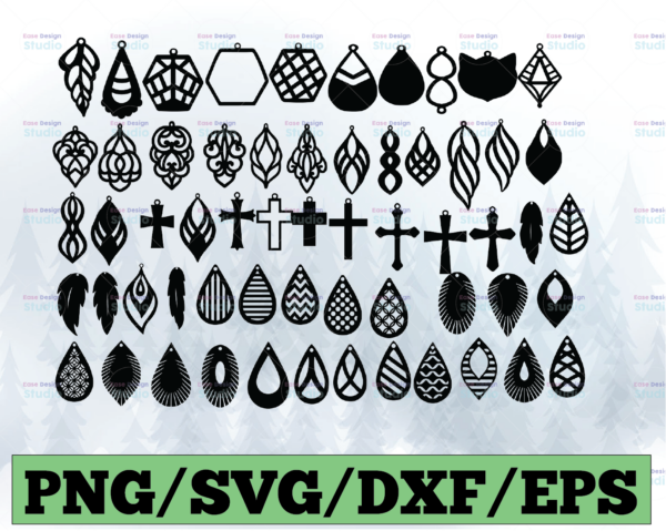 WTMETSY13012021 03 13 Vectorency Earring SVG Bundle, Leather Earrings SVG, Earring Template SVG, Teardrop SVG, Stacked Earring SVG, Jewelry SVG, Earring Cut File