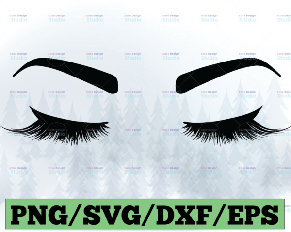 WTMETSY13012021 03 20 Vectorency Eyelashes Svg file, Eyebrows SVG Instant Download Woman Eyelashes SVG and PNG file, Makeup svg