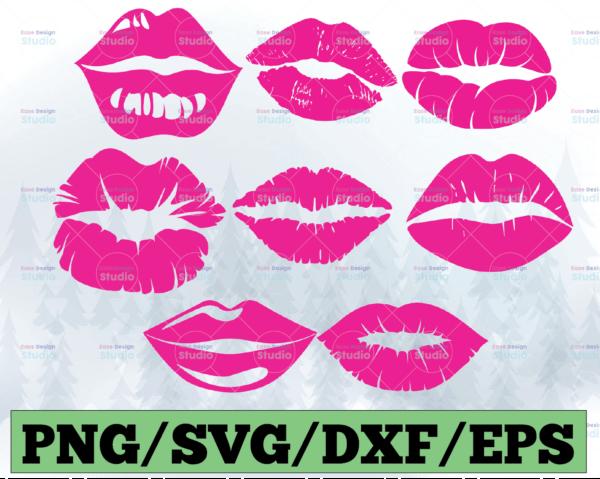 WTMETSY13012021 03 28 Vectorency Lips SVG, Lips Bundle Svg, Kiss, Bleeding Lips, Biting Lips, Dripping lips, Lip, Makeup Silhouette Png Eps Dxf Vinyl Decal Digital Cut Files