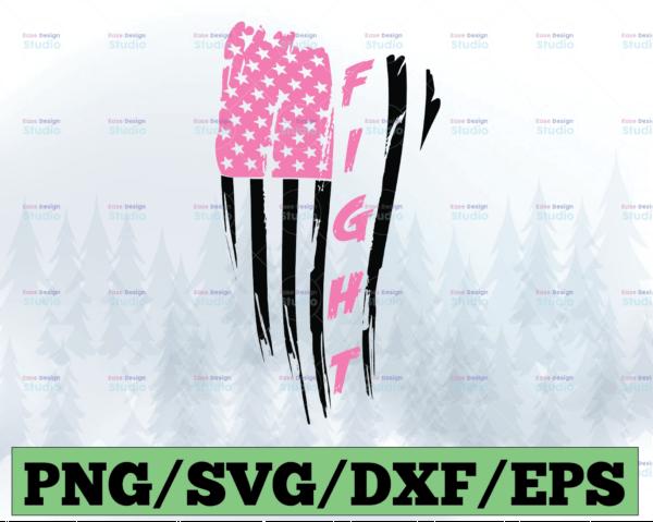 WTMETSY13012021 03 3 Vectorency Fight SVG Awareness SVG Breast Cancer SVG Pink Ribbon DXF Fight Flag SVG Pink Fight USA Flag SVG