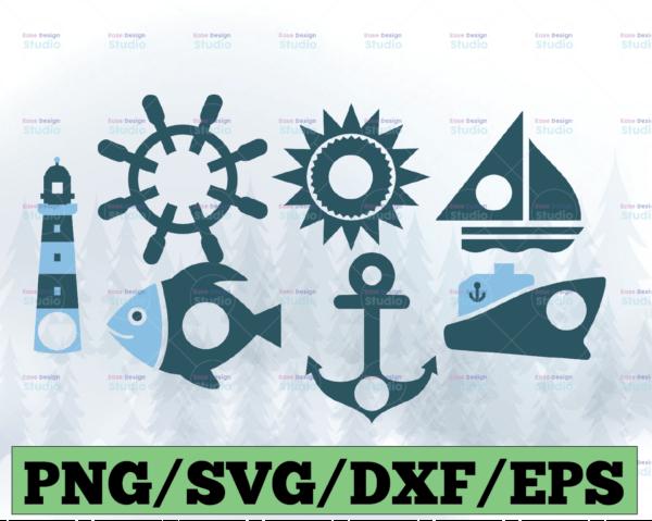 WTMETSY13012021 03 30 Vectorency Nautical SVG Bundle, Nautical SVG, Nautical Clipart, Nautical Cut Files For Silhouette, Files for Cricut, Nautical Vector, DXF, PNG, Design