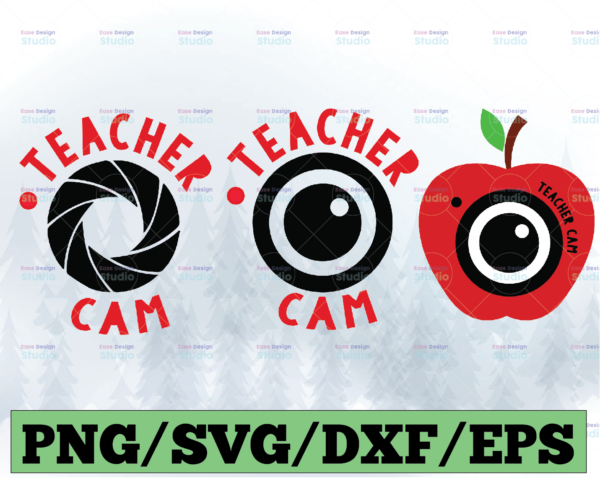 WTMETSY13012021 03 33 Vectorency Teacher Cam SVG Bundle, DXF, EPS, PNG Files for Cutting Machines Cameo or Cricut - Fun Teacher SVG
