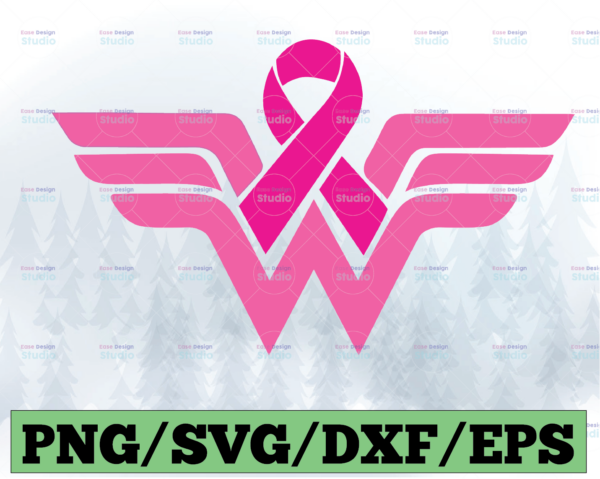 WTMETSY13012021 03 4 Vectorency Breast Cancer Wonder Woman SVG, Logo SVG, Breast Cancer Awareness, Hope Short, Girl Power SVG, Strong Woman SVG, Instant Download