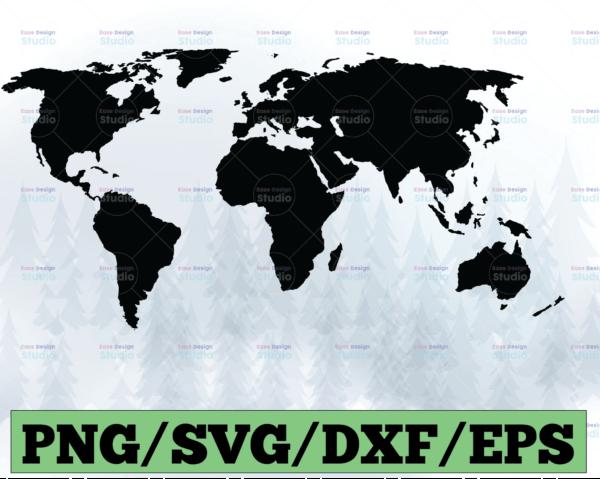 WTMETSY13012021 03 42 Vectorency World Map SVG, World SVG, Travel SVG, World Map Clipart PNG Cricut SVG