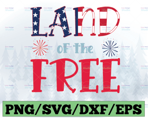 WTMETSY13012021 03 44 Vectorency July 4th SVG, SVG Files for Cricut, Land of the Free SVG, Because of the Brave SVG, DXF, Silhouette SVG, Clipart, Digital Download
