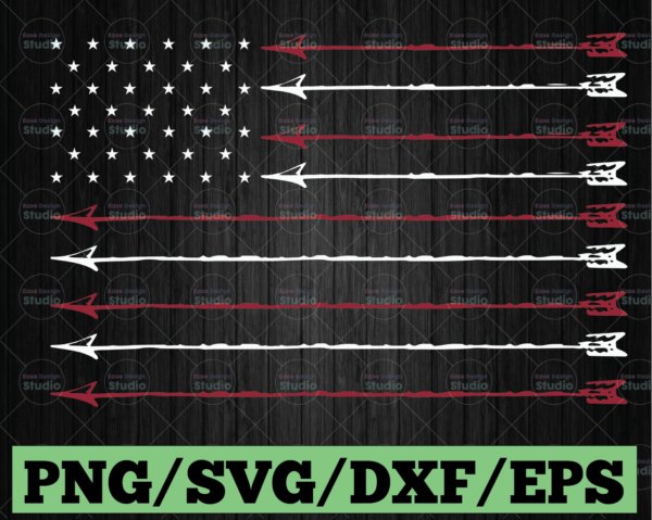 WTMETSY13012021 03 46 Vectorency Arrow Flag SVG, 4th Of July SVG, Memorial Day SVG Cut table Design, SVG, DXF, PNG Use With Silhouette Studio & Cricut