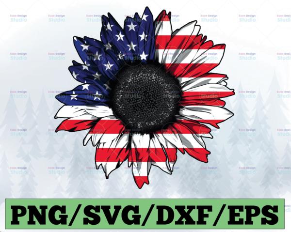 WTMETSY13012021 03 54 Vectorency American Flag Sunflower PNG, Sunflower PNG, Patriotic Sunflower PNG, Distressed Flag Sunflower, America PNG, Sublimation Design Download