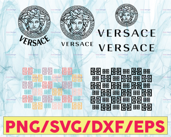 WTMETSY13012021 05 1 Vectorency Versace svg, Versace logo svg, Pattern svg, Versace logo designs, Versace logo pattern svg, cut files, brand logo svg, digital download