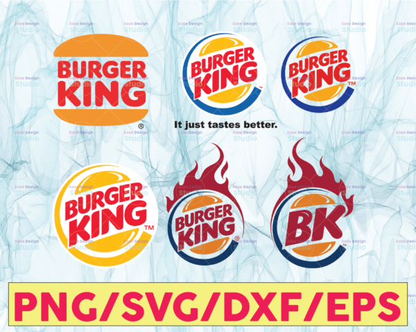WTMETSY13012021 05 10 Vectorency Burger King Logo Bundle SVG, PNG, JPG - Ready To Use, Instant Download, Silhouette Cutting Files