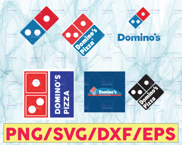 WTMETSY13012021 05 11 Vectorency Domino's Pizza Logo Bundle SVG, PNG, JPG - Ready To Use, Instant Download, Silhouette Cutting Files