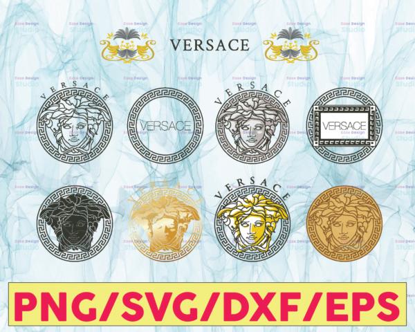 WTMETSY13012021 05 2 Vectorency Versace svg, Versace logo svg, Pattern svg, Versace logo designs, Versace logo pattern svg, cut files, brand logo svg, digital download,