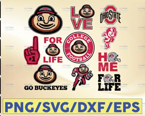 WTMETSY16032021 09 24 Vectorency Ohio State Buckeyes Sport SVG, Football SVG, Silhouette SVG, Cut Files, College Football SVG, NCAA Logo SVG