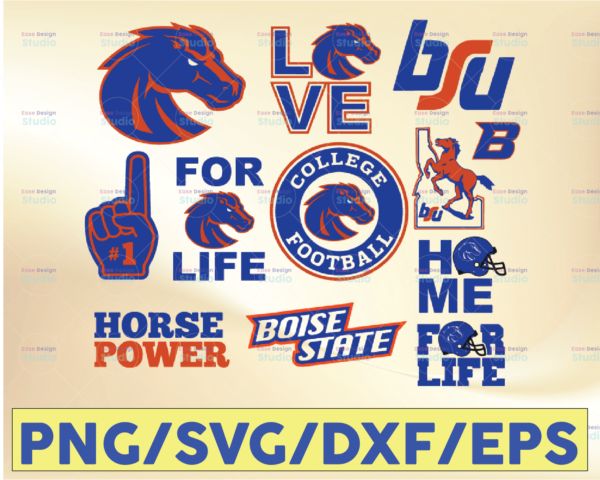 WTMETSY16032021 09 25 Vectorency Boise State Broncos Football SVG, Sport SVG, Football SVG, Silhouette SVG, Cut Files, College Football ,NCAA Logo SVG