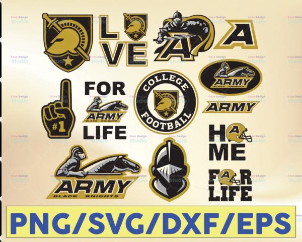 WTMETSY16032021 09 33 Vectorency Army Black Knights Football SVG, Football SVG, Silhouette SVG, Cut Files, College Football SVG, NCAA Logo SVG