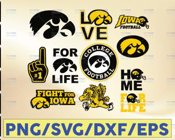 WTMETSY16032021 09 40 Vectorency Iowa Hawkeyes Football SVG, Football SVG, Silhouette SVG, Cut Files, College Football SVG, NCAA Logo SVG
