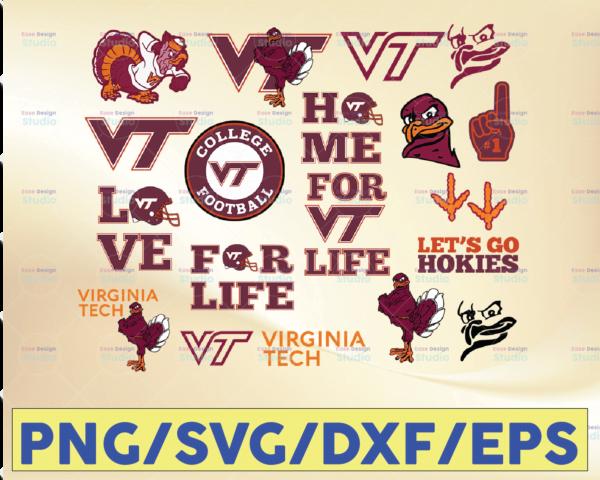 WTMETSY16032021 09 41 Vectorency Virginia Tech Hokies Football SVG, Football SVG, Silhouette SVG Cut Files, College Football SVG, NCAA Logo SVG