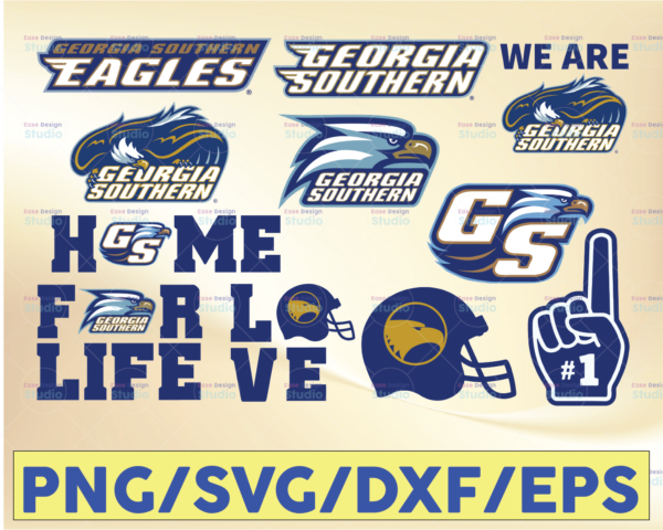 WTMETSY16032021 09 46 Vectorency Georgia Southern Eagles Football SVG, Football SVG, Silhouette SVG, Cut Files, College Football SVG, NCAA Logo SVG, PNG, DXF, EPS