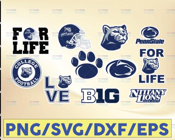 WTMETSY16032021 09 51 Vectorency Penn State Nittany Lions Football SVG Files, Cricut, Silhouette Studio, Digital Cut Files, Football SVG, NCAA Sports SVG PNG DXF EPS