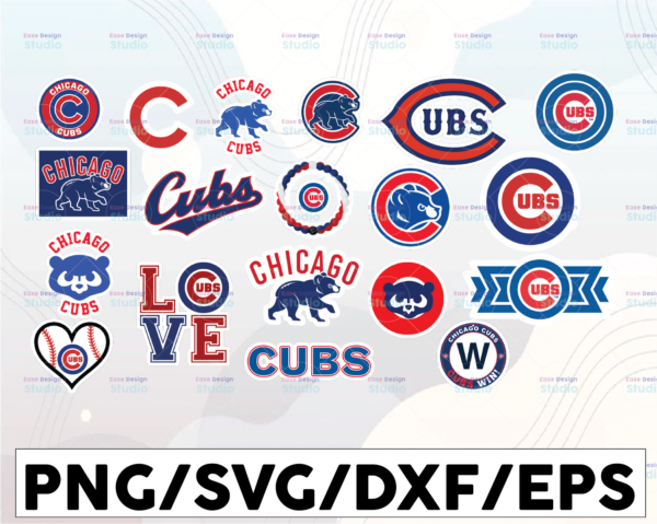 WTMETSY16032021 1 01 10 Vectorency Chicago Cubs SVG Cut Files, SVG Files, Baseball Clipart, Cricut Chicago Cubs Cutting Files, Baseball DXF, Clipart, Instant Download