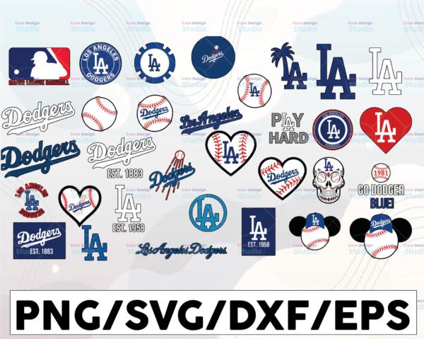 WTMETSY16032021 1 01 2 Vectorency LA Dodgers SVG Cut Files, SVG Files, Baseball Clipart, Cricut Los Angeles Dodgers Cutting Files, Baseball DXF, Clipart, Instant Download