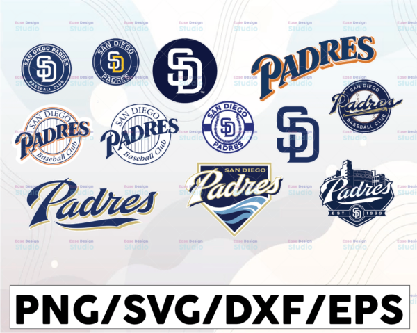 WTMETSY16032021 1 01 25 Vectorency San Diego Padres SVG Cut Files, SVG Files, Baseball Clipart, Cricut San Diego Padres Cutting Files, Baseball DXF, Clipart, Instant Download
