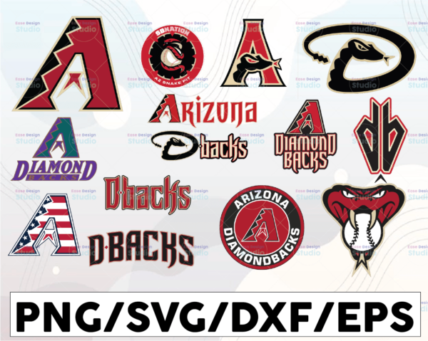 WTMETSY16032021 1 01 9 Vectorency Arizona Diamondbacks SVG Cut Files, SVG Files, Baseball Clipart, Cricut Diamondbacks, Cutting Files, Baseball DXF, Clipart, Instant Download