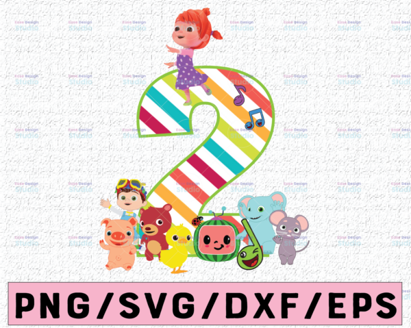 WTMETSY16122020 02 10 Vectorency Cocomelon Personalized Name And Ages Birthday PNG, Cocomelon Birthday PNG, Cocomelon Family Birthday PNG, Watermelon Only PNG JPG