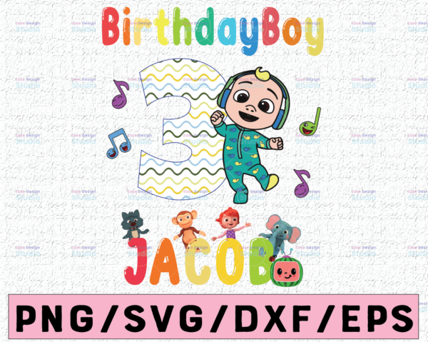 WTMETSY16122020 02 18 Vectorency Cocomelon Personalized Name And Ages Birthday PNG, Cocomelon Birthday PNG, Cocomelon Family Birthday PNG, Watermelon Only PNG JPG