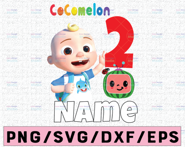 WTMETSY16122020 02 21 Vectorency Cocomelon Personalized Name And Ages Birthday PNG, Cocomelon Birthday PNG, Cocomelon Family Birthday PNG, Watermelon Only PNG JPG