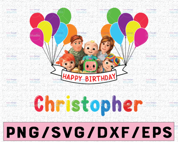 WTMETSY16122020 02 22 Vectorency Cocomelon Personalized Name Birthday PNG, Cocomelon Birthday PNG, Cocomelon Family Birthday PNG, Watermelon Only PNG JPG
