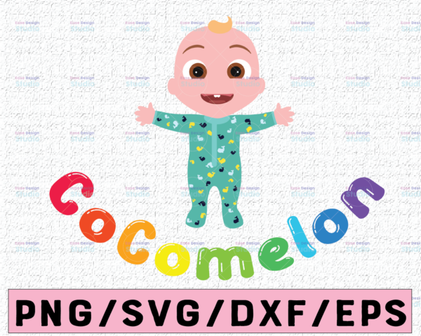 WTMETSY16122020 02 33 Vectorency Cocomelon JJ SVG, Coco Melon SVG, Cocomelon Logo SVG, Cocomelon Birthday SVG, Watermelon Birthday, Trending Birthday SVG PNG DXF