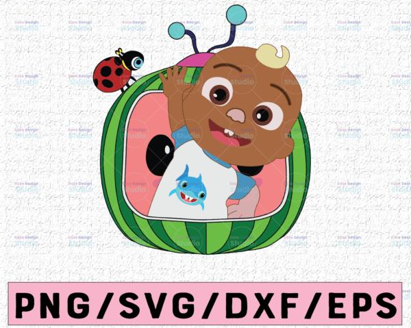 WTMETSY16122020 02 36 Vectorency Cocomelon JJ SVG, Coco Melon SVG, Cocomelon Logo SVG, Cocomelon Birthday SVG, Watermelon Birthday, Trending Birthday SVG PNG DXF