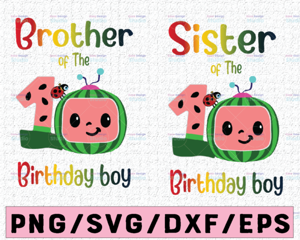WTMETSY16122020 02 43 Vectorency Cocomelon Brother and Sister Of Birthday Boy SVG, Coco Melon SVG, Cocomelon Bundle SVG, Cocomelon Birthday SVG, Watermelon Birthday
