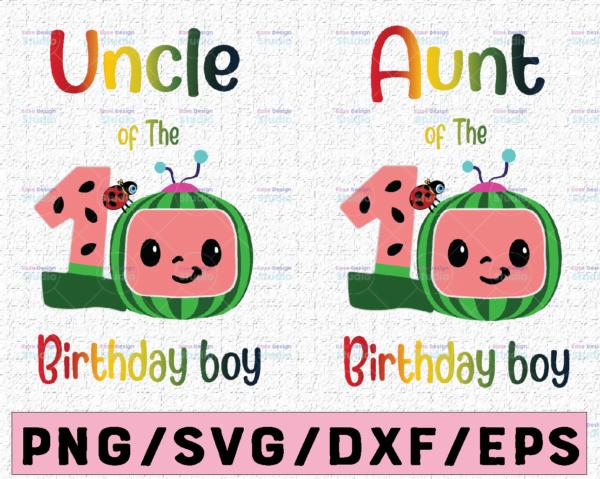 WTMETSY16122020 02 45 Vectorency Cocomelon Uncle and Aunt Of Birthday Boy SVG, Coco Melon SVG, Cocomelon Bundle SVG, Cocomelon Birthday SVG, Watermelon Birthday